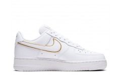 Женские кроссовки Air Force 1 07 Essential White Gold AO2132-102